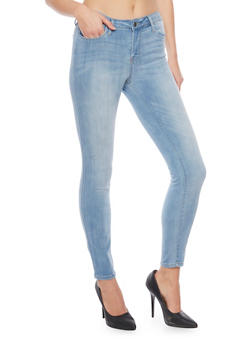 Cello Whisker Wash 5 Pocket Skinny Jeans - 1074063151395