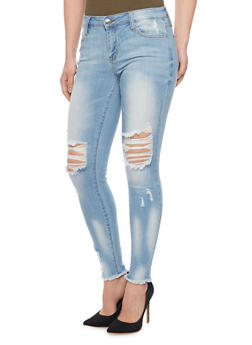 Cello Frayed and Destroyed Skinny Jeans - 1074063151528