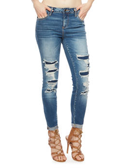 Cello Jeans with Distressing - 1074063154915