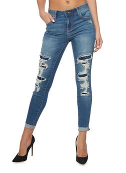 Cello Patch and Repair Skinny Jeans - 1074063154915