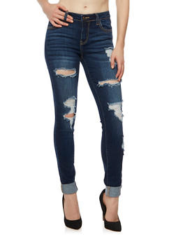 Cello Distressed Skinny Jeans - 1074063154952