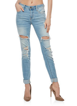 Cello Whisker Wash Destroyed Jeans - 1074063154953