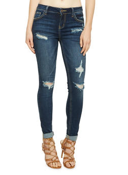 Cello Distressed Skinny Jeans - 1074063155021