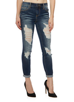 Cello Jeans with Distressed Front - 1074063155099