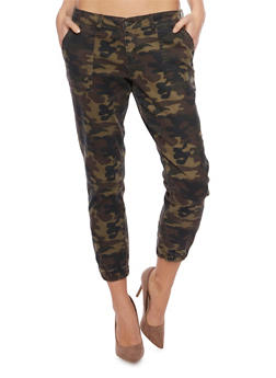 Cello Camo Print Denim Joggers - 1074063155170