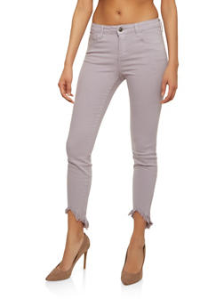 Cello Colored Raw Hem Skinny Jeans - 1074063155451