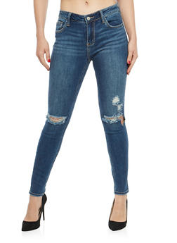 Cello Ripped Knees Skinny Jeans - 1074063155843