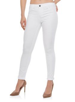 Cello Colored Skinny Jeans - WHITE - 1074063156643