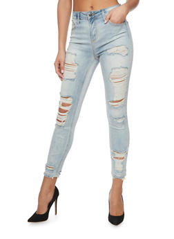 Cello Destroyed Skinny Jeans - 1074063157528