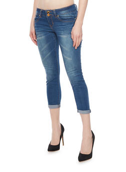 VIP Push Up Double Button Roll Cuff Jeans - 1074065300208