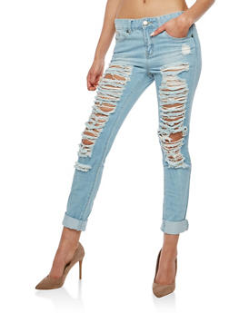 VIP Destroyed Boyfriend Jeans - 1074065300277