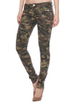VIP Moto Jeans in Camo - 1074065301271