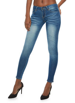 VIP Push Up Whisker Wash Skinny Jeans - 1074065301399