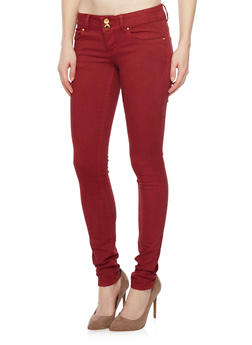 VIP Skinny Push Up Jeans with Double Buttons - 1074065301820