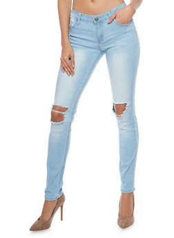 VIP Ripped Knee Skinny Jeans - 1074065301850