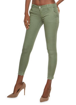 VIP Raw Hem Skinny Stretch Pants - 1074065302175