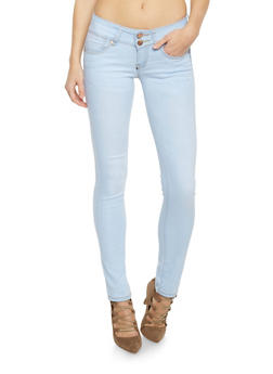 VIP Double Button Low Rise Skinny Jeans - 1074065302837
