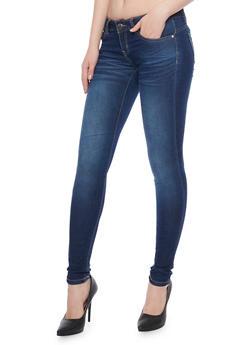 Whisker Wash VIP Dark Wash Skinny Jeans - 1074065302839