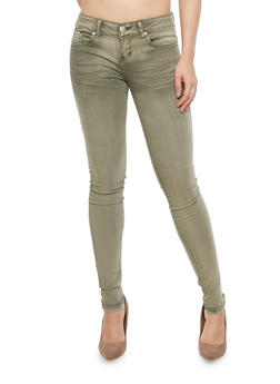 VIP Whisker Wash Skinny Jeans - 1074065307392