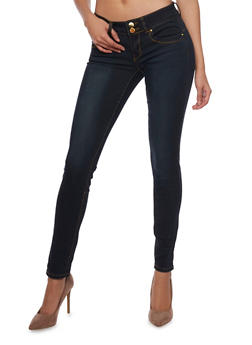 VIP Skinny Jeans with 2 Button High Waist - 1074065308208