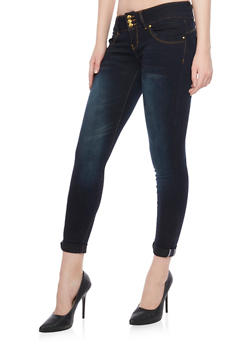 VIP 3 Button Mid Rise Jeans - 1074065308337