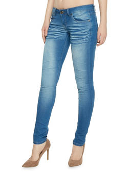 VIP Whiskered Push Up Skinny Jeans - 1074065308391