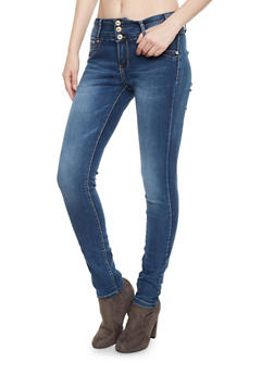 Stretch Jeans with Light Whiskering - 1074067540167