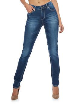 Whisker Wash Skinny Jeans - 1074067541117