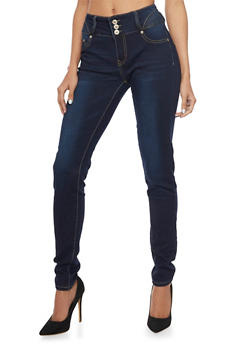 High Waisted Push Up Jeggings - 1074067541631