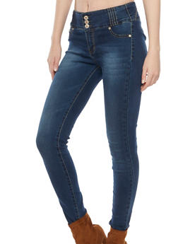 High Waisted Skinny Jeans with Push Up Seams - 1074067542001