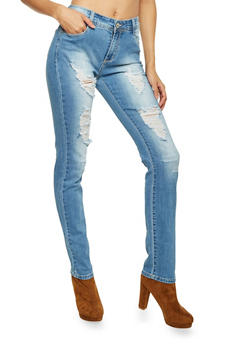 Distressed Skinny Jeans - 1074067542102
