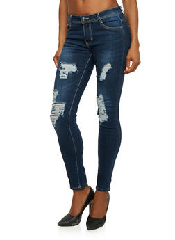 Distressed Skinny Jeans in Ankle Length - 1074067542103