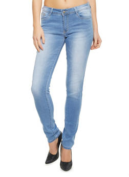 Stretch Jeans with Sandblasted Finish - 1074067542205