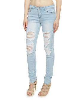 Destroyed Skinny Jeans - 1074067542511