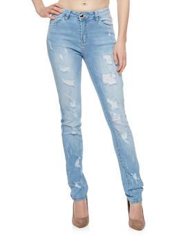 Distressed Skinny Jeans - 1074067544000