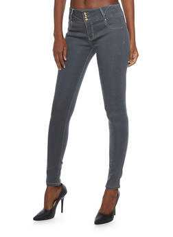 Jeggings with 3 Buttons - 1074067547019