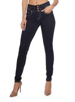 Dark Wash High Waisted Skinny Jeans - 1074067547032