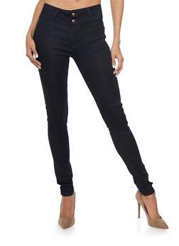 Dark Wash High Waisted Push Up Skinny Jeans - 1074067547108