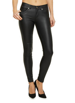 Skinny Pants in Faux Leather - 1074068190059