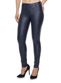 Coated Skinny Pants - 1074068190069