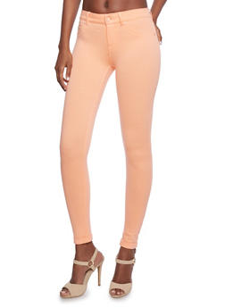 Skinny Ponte Pants with Rolled Cuffs - 1074068190608