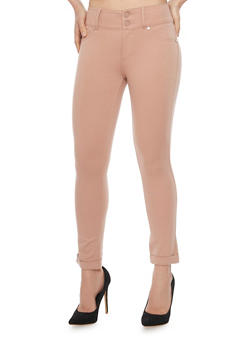 Shinestar Cuff Leg Jeggings - 1074068193042