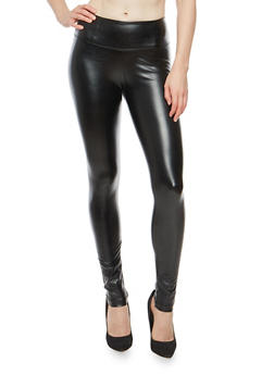 Faux Leather Leggings - 1074068193049