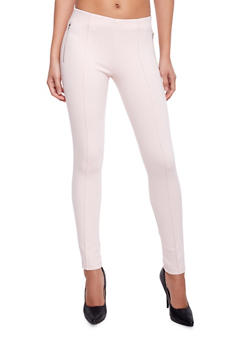 Pleated Jeggings with Zip Up Pockets - 1074068193094