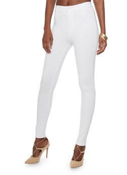 Solid High Waist Jeggings - 1074068193102