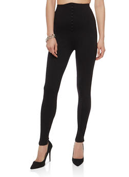 High Waisted Tuxedo Ponte Pants - 1074068193657