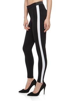 Side Stripe Skinny Pants - 1074068193669