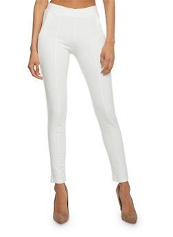 Solid Skinny Ponte Pants - 1074068193903