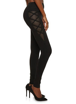 Caged Fishnet Side Pants - 1074068194003