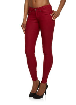 Push Up Skinny Pants in Solid - 1074068195425